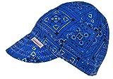 Comeaux Caps Reversible Welding Cap Blue Bandana Size 7 1/4