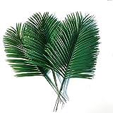 UOEIDOSB 5 Piezas Hojas de Palma Artificiales Plantas Verdes Hoja de árbol de Hierro Flores Artificiales Decorativas decoración de la Boda