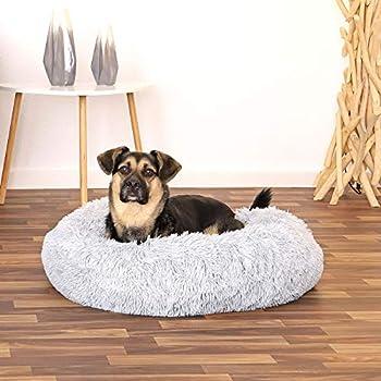 dibea Panier Rond Chien Coussin Chat Panier Donut Ø 70 cm Dimension extérieure Gris Clair
