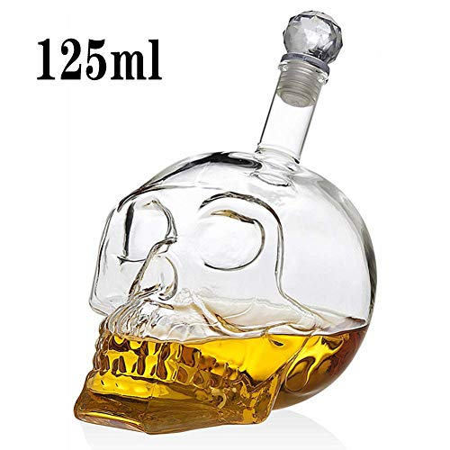 Liquor Karaffen, Wodkafles Skull Flessen Creative Gothic Wine Vodka Decanter 125Ml 350Ml 550Ml 1000ML 4 Maten