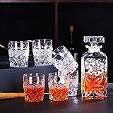 Decantador de whisky set regalo para hombres, vidrio sin plomo, vasos de whisky de estilo europeo-A