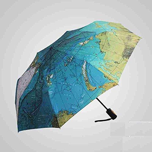 Sasan Fallschirm special map Regenschirm British Wind Falten Anti uv-sun kreative Sonnenschirm Sonnenschirm Sonnenschirm vollautomatisch, Voll automatische Geld
