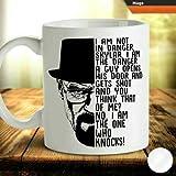 Breaking Bad Inspirado Heisenberg Walter Café con leche Taza de té Taza Tazas de cumpleaños