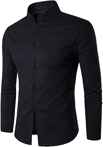 Camisa para Hombre Camisa China Costume Tang Suit ...