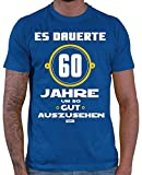 Hariz 60 Jahre Um So Gut auszusehen - Camiseta para hombre, diseño con texto en alemán azul real XXL