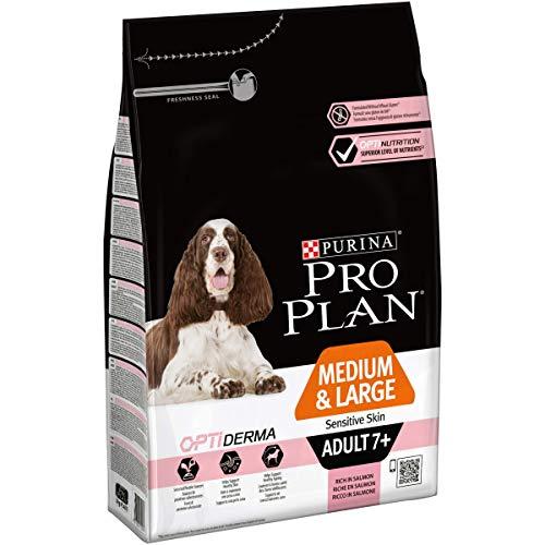 Purina Pro Plan Medium Large Adult 7+ Sensitive Skin OPTI Derma Salmon Comida para Perros - 3000 gr