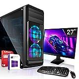 Office Komplett PC Set|AMD A10-9700 4x3.8GHz |Marken Board|27 Zoll Monitor|Radeon HD R7 - max. 4GB - HyperMemory|120GB SSD + 1000GB HDD|Windows 10 Pro|WLAN|3 Jahre Garantie
