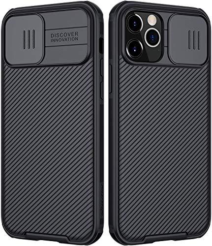 Nillkin Funda compatible con iPhone 12 Pro Max, [Protección de cámara] Cubierta de cámara deslizante, delgada, compatible con iPhone 12 Pro Max 6.7 pulgadas, color negro