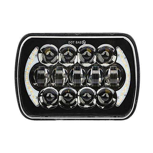 Viudecce 210W 5X7 Pulgadas 7X6 Pulgadas Proyector LED Faro DRL con ArnéS H4 para Cherokee XJ Tacoma y 88-95 Pickup 1Pcs