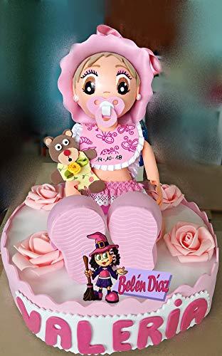 Fofucha Bautizo niña personalizada baby shower