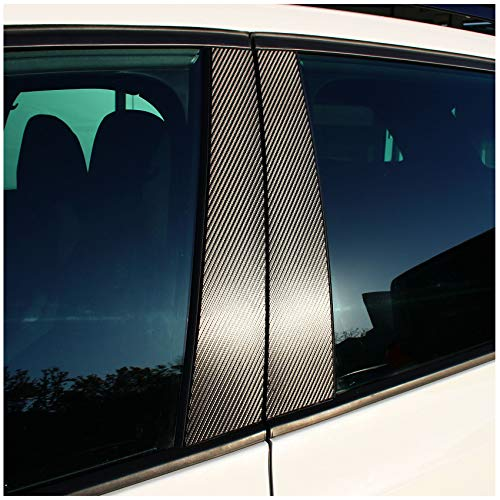 AlphaShield FX01 Lackschutz Folie für B C Säule Zierblenden Aufkleber für Auto (140µm 3M Carbon Schwarz)
