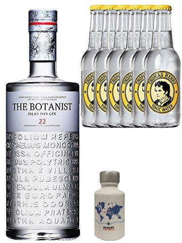 Gin-Set The Botanist Islay Dry Gin 0,7 Liter + Nordes Atlantic Gin 0,05 Liter Miniatur + 6 Thomas Henry Tonic Water 0,2 Liter