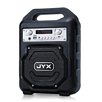 JYX Portable Bluetooth Speaker Subwoofer Bluetooth 5.0 Wireless Stereo Boombox Loud Sound with Heavy Bass Support REC/MIC Input/FM Radio/AUX/USB Card for Phone Computer Party Travel