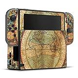 DeinDesign Skin kompatibel mit Nintendo Switch Folie Sticker Weltkarte Landkarte Kompass