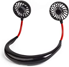 YIWEI Neck Hanging Fans Portable Mini Hand Free USB Personal Fan Headphone Design, 3 Speeds,Perfect for Travel Outdoor Office Home Sports