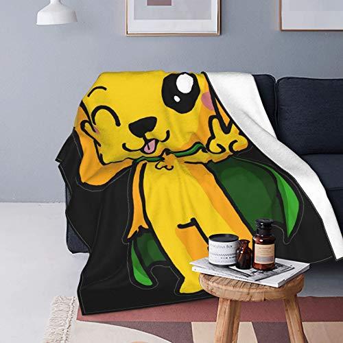 Mikecrack - Manta de felpa para bajar, suave y cálida, impresión digital, ultra suave, para sofá, cama, sala de estar, 150 x 130 cm