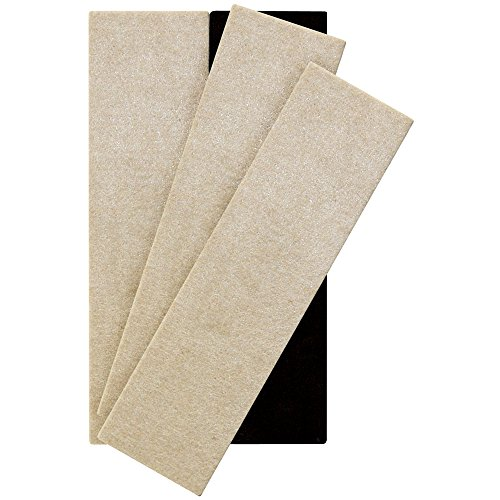 "SuperSliders 4703795N Reusable XL Felt Furniture Movers for Hardwood Floors – Move Heavy Furniture Quickly and Easily, 2-1/2' x 9"" Linen (4 Pack)"