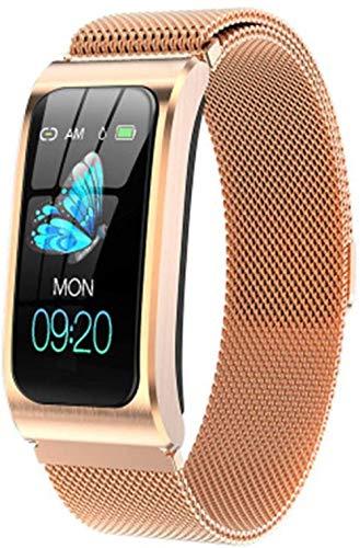 SHIJIAN Pulsera inteligente de moda con pantalla a color. Reloj impermeable Podómetro Monitor de actividad Correa deportiva Regalos para hombres y mujeres-M