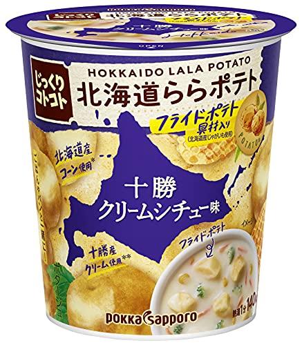 ポッカサッポロ じっくりコトコト北海道ららポテト十勝クリームシチュー味カップ×6個