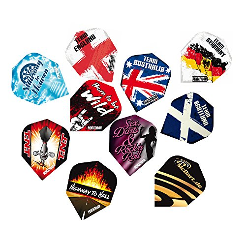 20 Satz Pentathlon Dart Flightsinkl.1 Set McDart®Flights