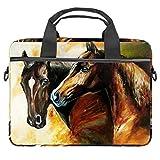 Une paire de chevaux pour ordinateur portable, sacoche à bandoulière, sac à bandoulière hydrofuge pour ordinateur portable, cartable, tablette, bussiness, sac à main pour femme et homme