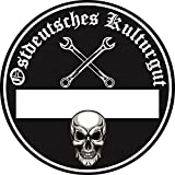 Ostdeutsches Kulturgut Auto Aufkleber Sticker Diesel Feinstaub Umwelt Plakette JDM Tuning TÜV LKW Lustig Fun Osten DDR 2 Stück!