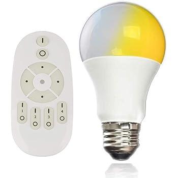 共同照明 LED電球 E26 60w形 調光 調色 リモコン付き GT-B-9WT2-Y led照明 リモコン 遠隔操作 9w led 60W 昼光色 昼白色 電球色 常夜灯 広配光タイプ 省エネ