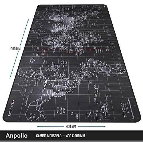 Anpollo Alfombrilla Raton Ordenador XXL Gaming Grande 900x400mm ...
