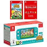 Nintendo Switch Lite Turquoise with Animal Crossing: New Horizons and (Nintendo Switch Online Membership)