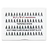 KASINA Professional False Eyelashes #TKFDS Tapered Ends in 100% Human Hair, Version of Ardell Red Cherry, Pack of 6
