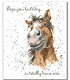 Wrendale Designs HORSE Happy BIRTHDAY CARD by Hannah Dale CHESTNUT HORSE