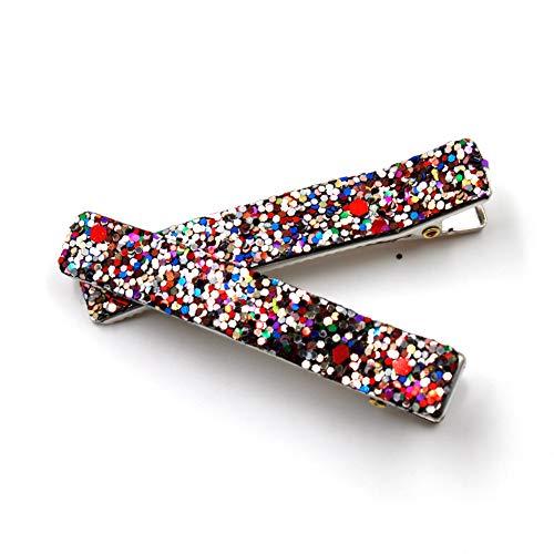 rougecaramel - Lot de 2 Pince cheveux paillettes 6cm - multicolore