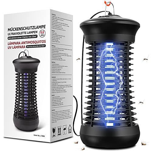 Lampada Antizanzare Elettrica Zanzariera Elettrica Luce UV - 1200V Lampada Zanzare Interno Mosquito Killer - Insetticida per Casa Giardino Cucina Insetti Zanzare Mosca Falene Range Effettivo 35 ㎡