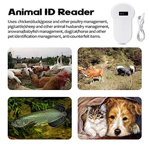 KKmoon Lettore ID Animali,Lettore Scanner Microchip Localizzatori per Animali, ISO11784/5 FDX-B,Lettore di Identificazione Animale 134.2KHz Lettore RFID con Display OLED,Lettore per Animali,Gatti,Cani