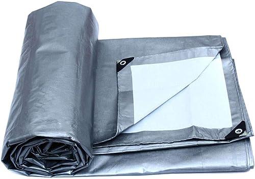 Sortie de Tente de Prougeection, Bache de Prougeection, Bateau, Rv ou Piscine, Blanc Argenté, Kejing Miao, 5 m × 4 m