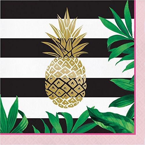 Golden Pineapple Napkins, 48 Count