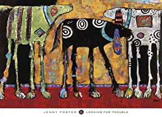 Looking for Trouble by Jenny Foster Variety Dog Print Poster 26x36