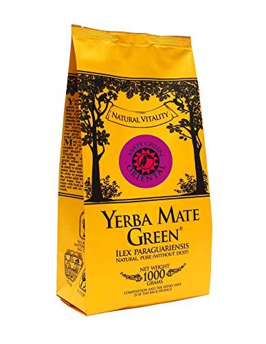 Yerba Mate Green 'Oriental' Brasilianischer Mate-Tee 1000g | Blumig-Fruchtiges Mate Tee | mit Hibiskus, schwarze Johannisbeere, Hagebutte, Kiwi, Orangenschale