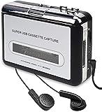 2020年最新版カセットテープ ダイレクト カセットテープ MP3変換プレーヤー カセットテープデジタル化 コンバーター PC不要 USBフラッシュメモリ保存 カセットテープ (白)