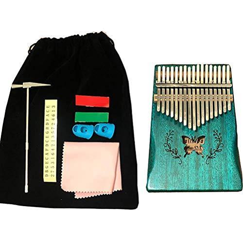 Kalimba, 17 Tasten Kalimba Daumen Klavier Mbira Finger Mahagoni Holz Keyboard Musikinstrument, enthalten Stimmsatz Hammer und Lernanweisung & Einfache Noten Geeignet, für Kinder Erwachsene Anfänger