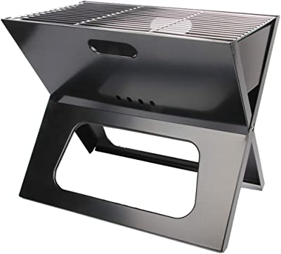 """Majitangcun Portable X-Type Grill Charcoal Grill Camping Family Dinner BBQ Stainless Steel Folding Grill Large (19""""x12 x16)"""