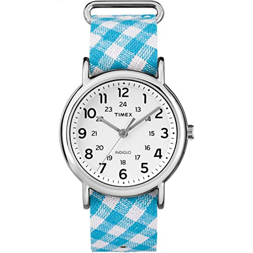 Timex Weekender Patterned 38mm |Blue| Fabric Casual Watch TW2R24400
