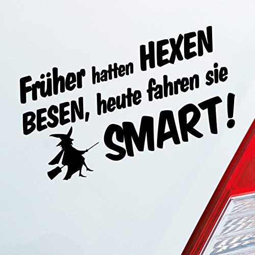 Auto Aufkleber in deiner Wunschfarbe Früher Hatten Hexen Besen Heute Fahren Sie…! für Smart Fans Fun 19x10 cm Sticker