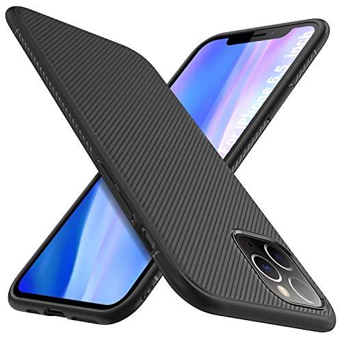 iBetter pour iPhone 11 PRO Max / Coque pour iPhone PRO PRO Max, Housse de protection en caoutchouc souple, ajustement rapide, Protection durable, pour iPhone 11 PRO Max / Smartphone XON PRO pour iPhone XI Max Max (Noir)