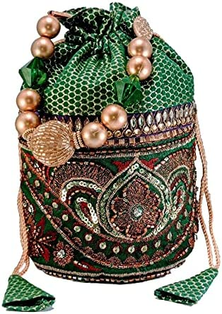 New Women Multicolor Potli Bag Embroidered Party Dress Wedding Dno.2