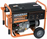Generac 5975 GP5500 6,875 Watt 389cc OHV Portable Gas Powered Generator, CSA Compliant