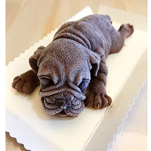 EDCV schattige puppy taart decoratie keuken bakvorm ijs mousse cake fudge chocolade siliconen mal, 1