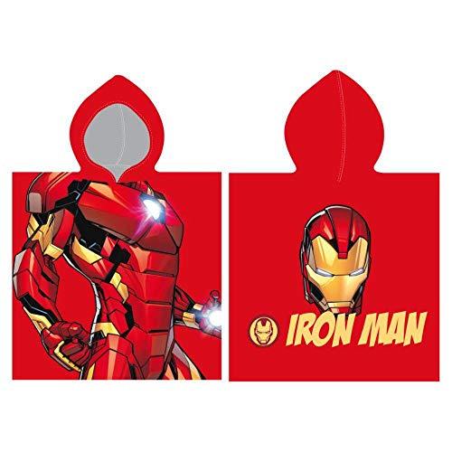 Cerdá 2200003876 Poncho Algodón Avengers Iron Man, Rojo, 50x115cm