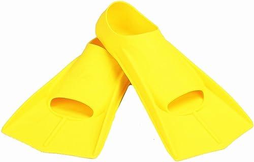 Flippers d'entraîneHommest Palmes de plongée ultra-légères idéales pour la natation, la plongée en apnée, l'activité aquatique Pour la natation et la plongée en apnée ( Couleur   Jaune , Taille   L )