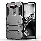 MYCASE Schutz Hülle Case für LG V10   Grau   Hard Cover